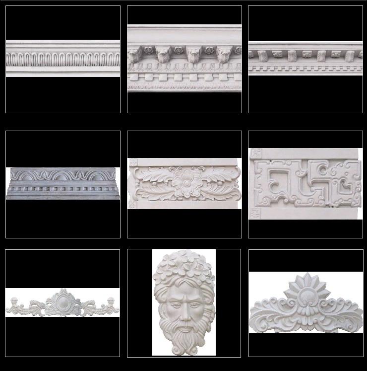 欧式檐线施工图